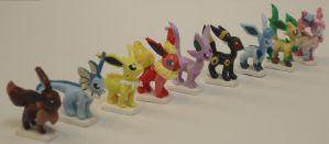 Sculpey Mini Eeveelutions by Estefanoida