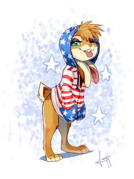 Merican  Idiot by Skeleion