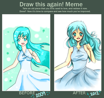 +before and after meme+ by ritsuneko69