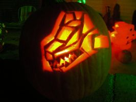 Command Wolf pumpkin carving by MidnightLiger0