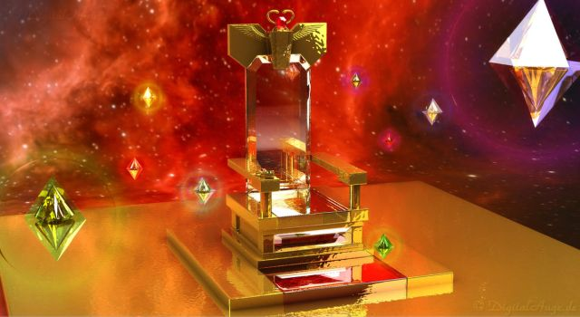 Sailor Moon - Galaxia's Throne and Heart Crystals by digitalAuge
