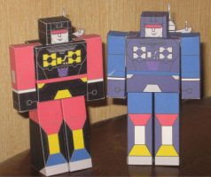 Frenzy and  Rumble Hako Clones by paperart