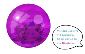*Commission* Anti-Shadow (Zorua) Rubber Balloon by Crafty-Cobra