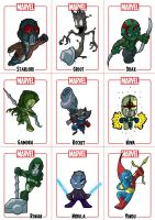 Chibi - Guardians of the Galaxy set by Juggertha
