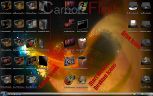 Carbon Flash Icon Package by TheDarkenedPoet