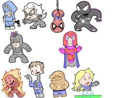 Marvel Mites...again by stu-toons