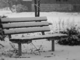 Lonely Cold Bench. by TiiaBear
