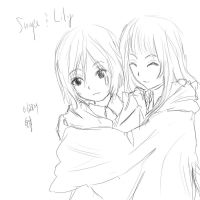 Snape and Lily Young by awula