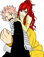 natsu and erza by Bleach-Fairy