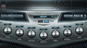 Soundiron Iron Pack VST plugin gui design by ScottKaneGUIs
