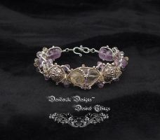 Amethyst and Citrine Bracelet by mdvannes