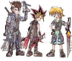 Yugi, Seto and Joey-Chibified by punkbot08