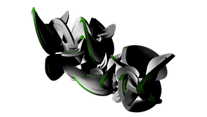 Green and White C4D by LaZerWuf
