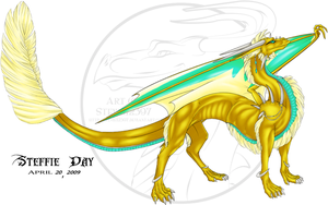 Gold Dragon by stevie12397
