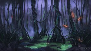 Creavures Background - Swamp by musegames