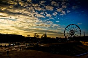 Sunset in tuileries by wildfox76