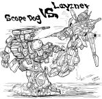 Armored Trooper Votoms vs Blue Comet SPT Layzner by archaznable30