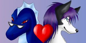 Diana and Deak Love Icon by VulpineFlame