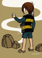 Gegege no Kitaro with his father by 4eknight11
