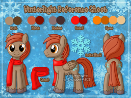 Reference Sheet: Winterlight by Veemonsito
