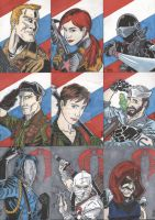 GI Joe Sketch Cards by tedwoodsart