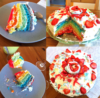 Rainbow Cake by LoSqui
