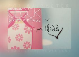 Clock - Birds Vintage by Ihavethedreamersdise
