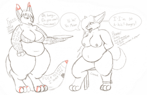 DEC 08 - [Sketch] Faith and Persian by Sketchy-Genet