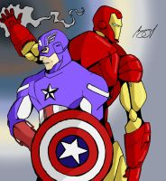 Captain America and Iron Man by Prongsky