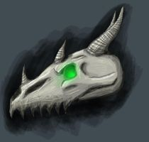 Dragon Skull by TheGreyPersona