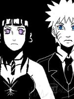 Naruhina: Black and white by Nishi06