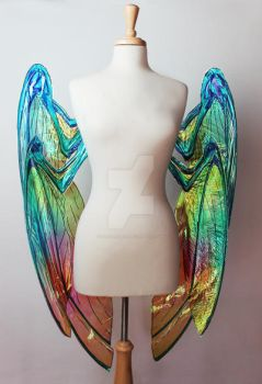 Front of Grace wings from Soulfire Comic -Downward by glittrrgrrl