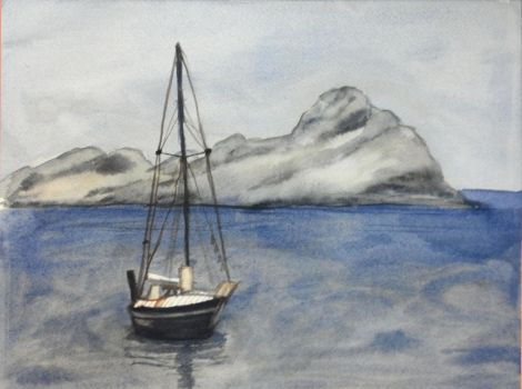.:misty sail boat:. by muridaee