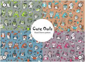 Owls Patterns by Redilion