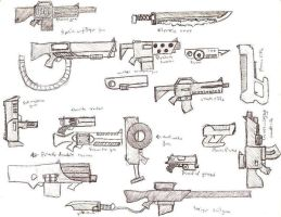 Various Guns by SamwiseTheAwesome