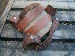 A set of leather cuff blanks by Mic-rez