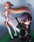 Kirito and Asuna - Sword Art Online by Riighted