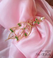 Elven Leaf brooch by Lyriel-MoonShadow