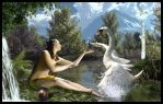 Leda and the Swan  ( Chtuluh 2015 ) by chtuluh2