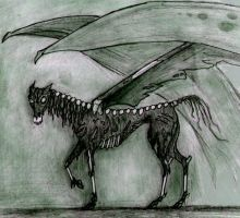 Zombie Thestral by Abydell