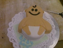 Baby Shower Cake VII by AlyceThePirate