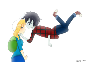 Fiona and Marshall Lee by natto-ngooyen
