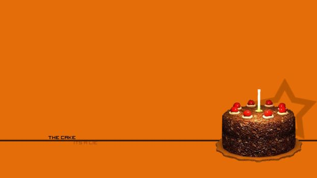 Cake is a Lie Wallpaper by Sparticus9090