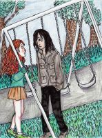 Harry Potter Snape and Lily by pebbled