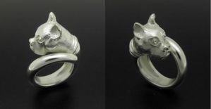Bulldog Silver Ring by orfeujoias