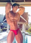 Tight Red Trunks by builtbytallsteve