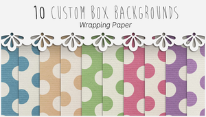 10 Custom Box Backgrounds - Wrapping Paper by illiyah