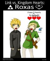 Link Vs Kingdom Hearts: Roxas by Past-Chaser