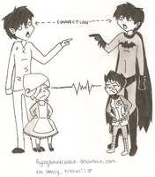 APH + Batman: Connection by flyingsaucerscout