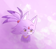 Blaze the purple cat by XXsnowman-hugsXX